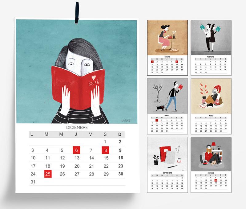 Calendarios bonitos 2018: Nuria Diaz