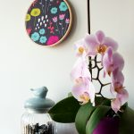 """Bastidor decoración estampado """"Flora"""""""