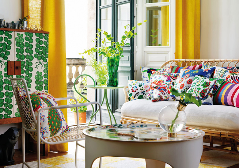 Josef Frank interior design, muebles y textiles