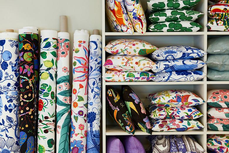 Textiles con estampados de Josef Frank