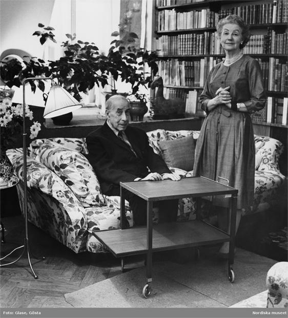 Josef Frank y Estrid Ericson en 1965